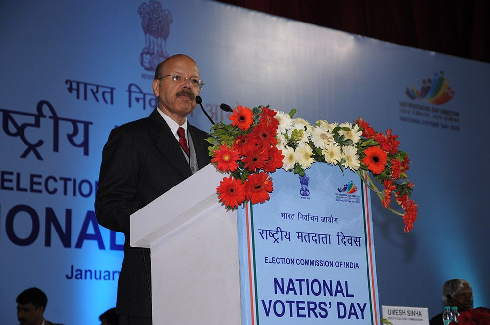 Dr. Nasim Zaidi, then EC addressing the audience