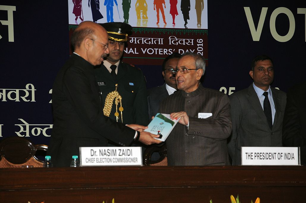 CEC hands over  the Book Belief in the Ballot to Hon'ble President.JPG