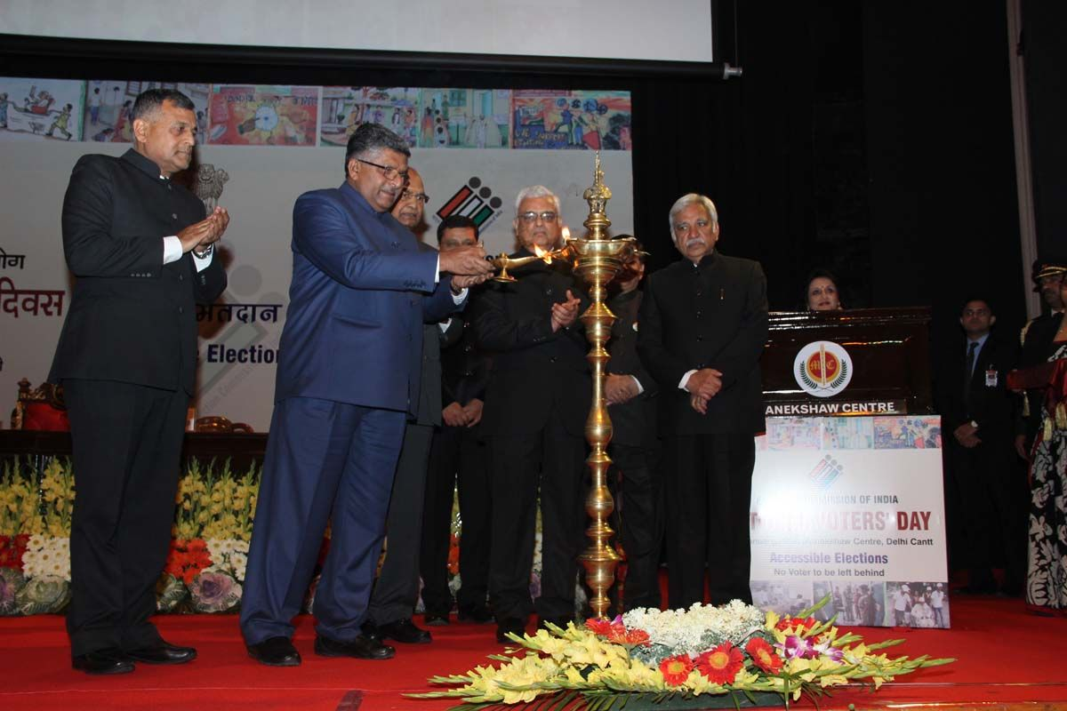Lighting of Lamp by Minister of Law & Justice, Sh. Ravi Shankar Prasad