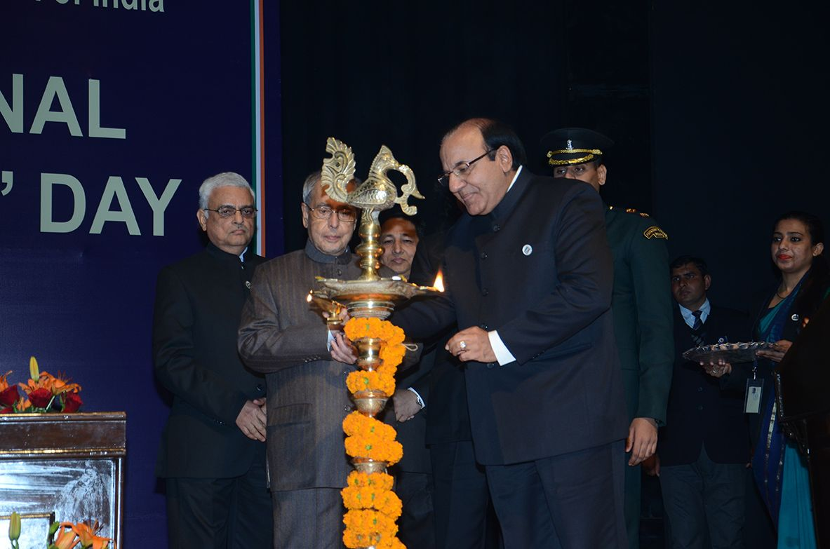 Lighting of Lamp by then EC, Shri A K Joti