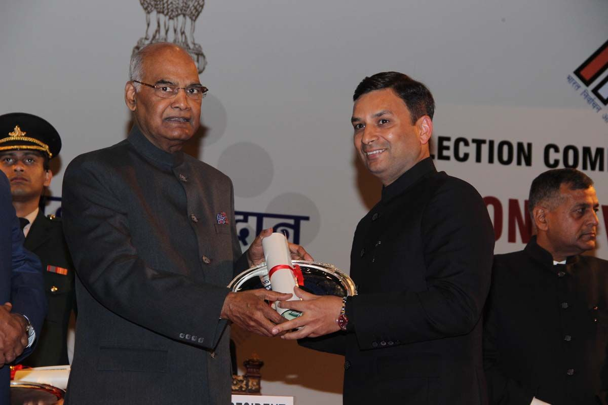 Ravi Bhagat, DEO, Ludhiana, Punjab receives the award
