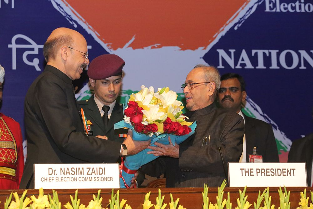CEC Dr. Zaidi welcomes Hon'ble President of India