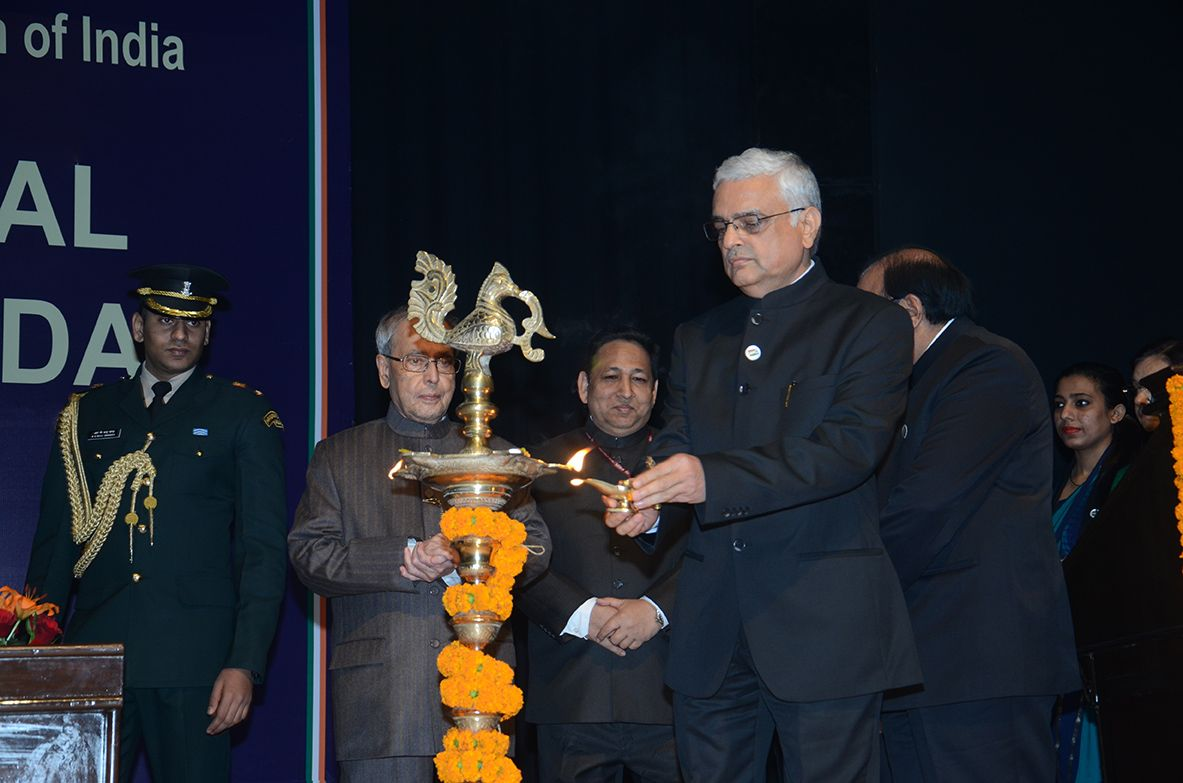 Lighting of Lamp by then EC, Shri O P Rawat