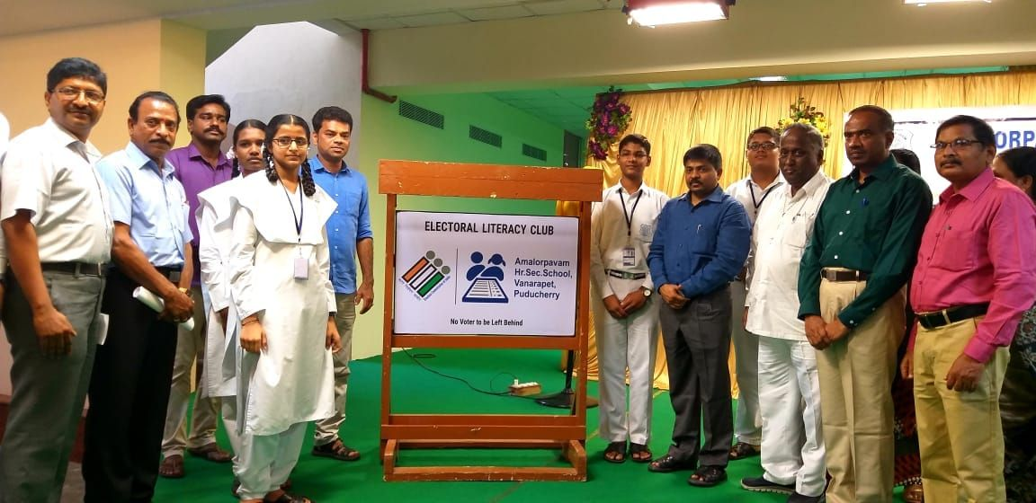 CEO of Puducherry, Dr. V. Candavelou inaugurated the ELC