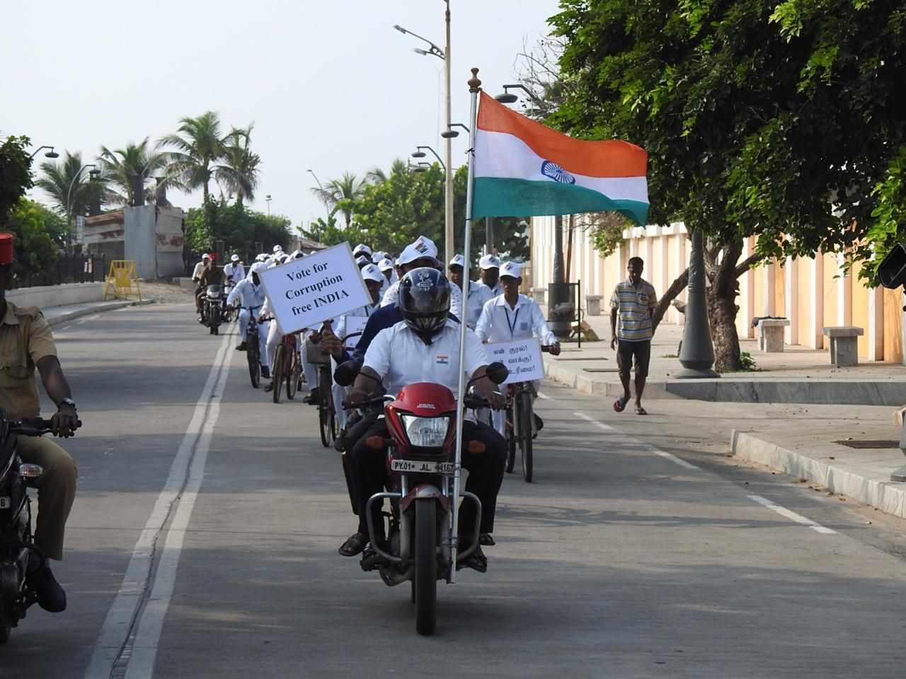Cycle Rally organised by Amalorvapam School ELC Members to promote Voter Awareness for Special Summary Revision 20191