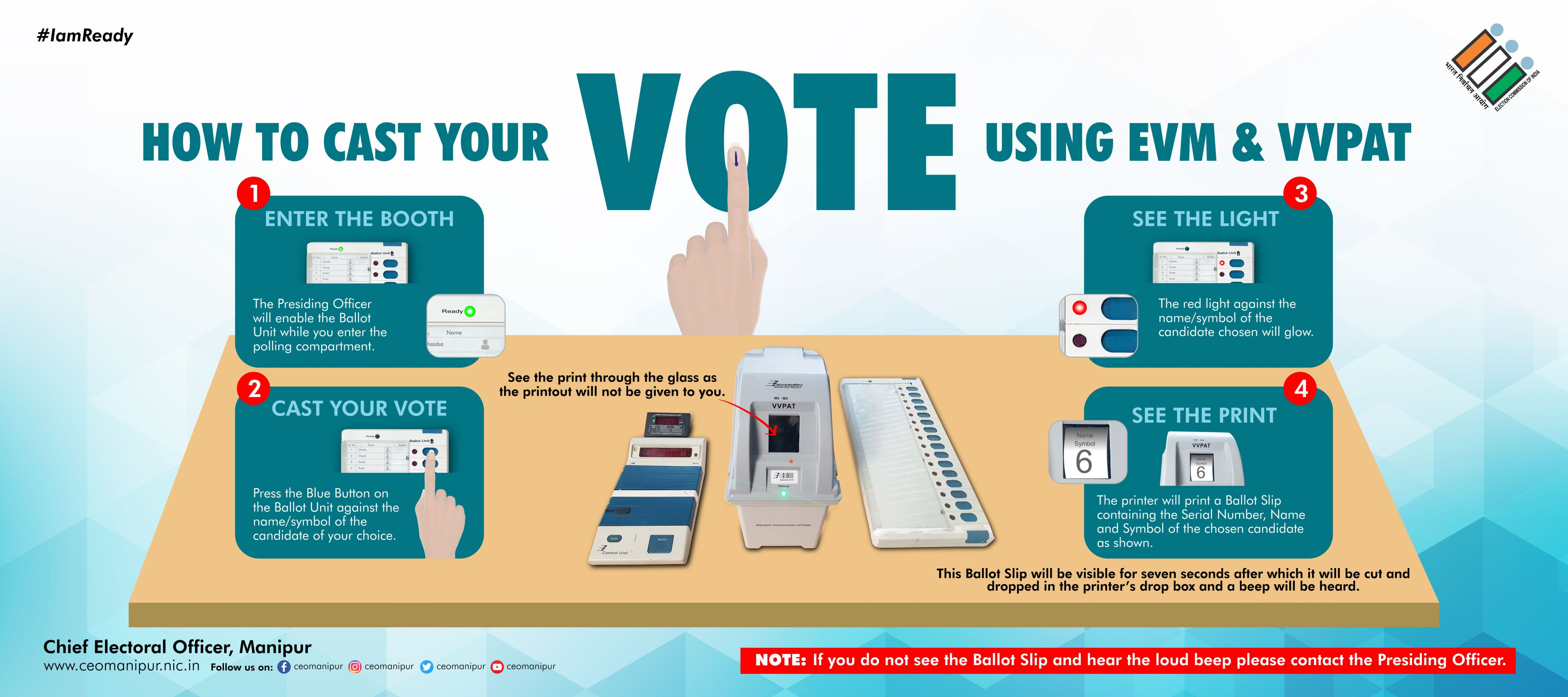 How to Cast Your Vote Using EVM and VVPAT