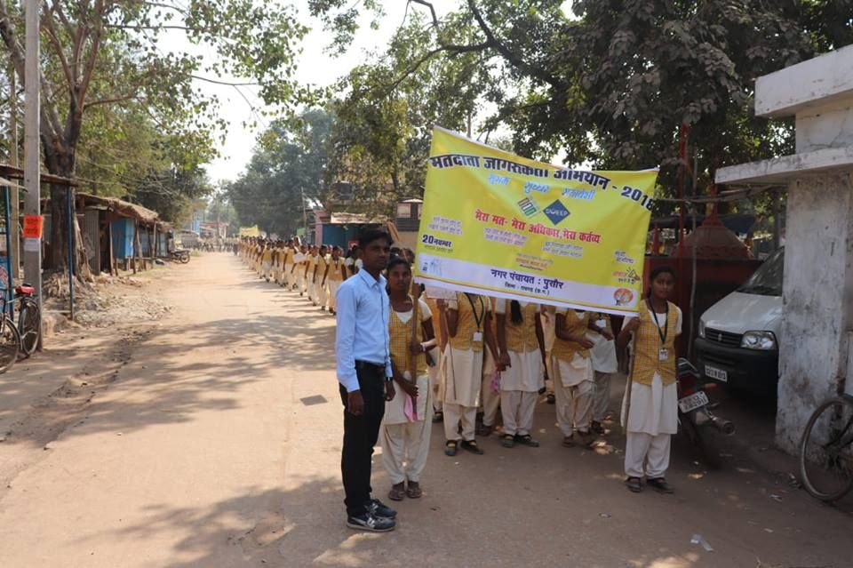 Raigarh: Voter Awareness drive in Pussore - Systematic