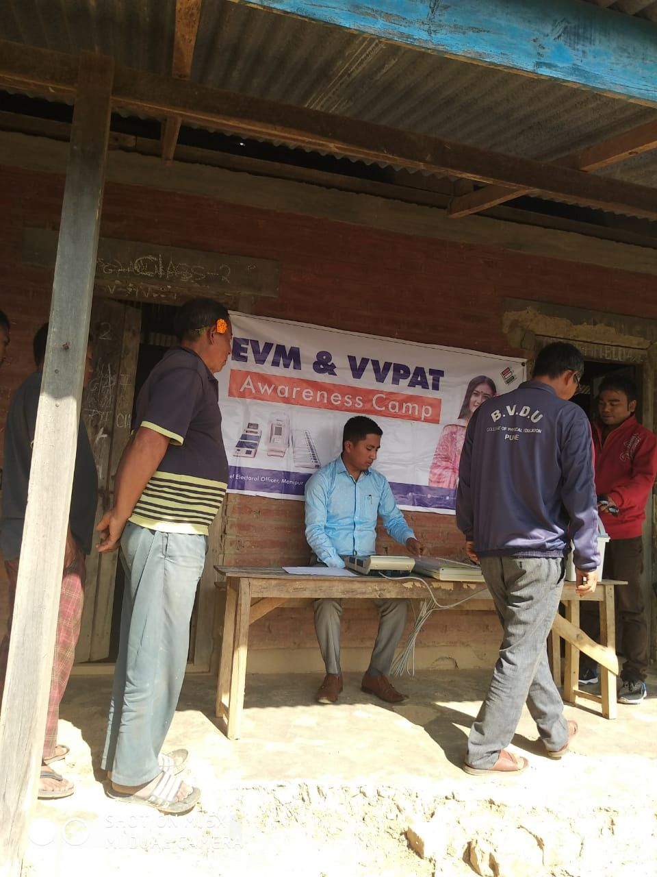 EVM and VVPAT Familiarization at 42AC(ST) under SVEEP programme for EVM and VVPAT (4)