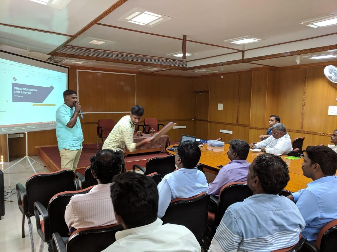 EVM- VVPAT Training to SECTOR OFFICERS and Assembly Level Master Trainers at Conference Hall, Collector Office on 28th January 2019