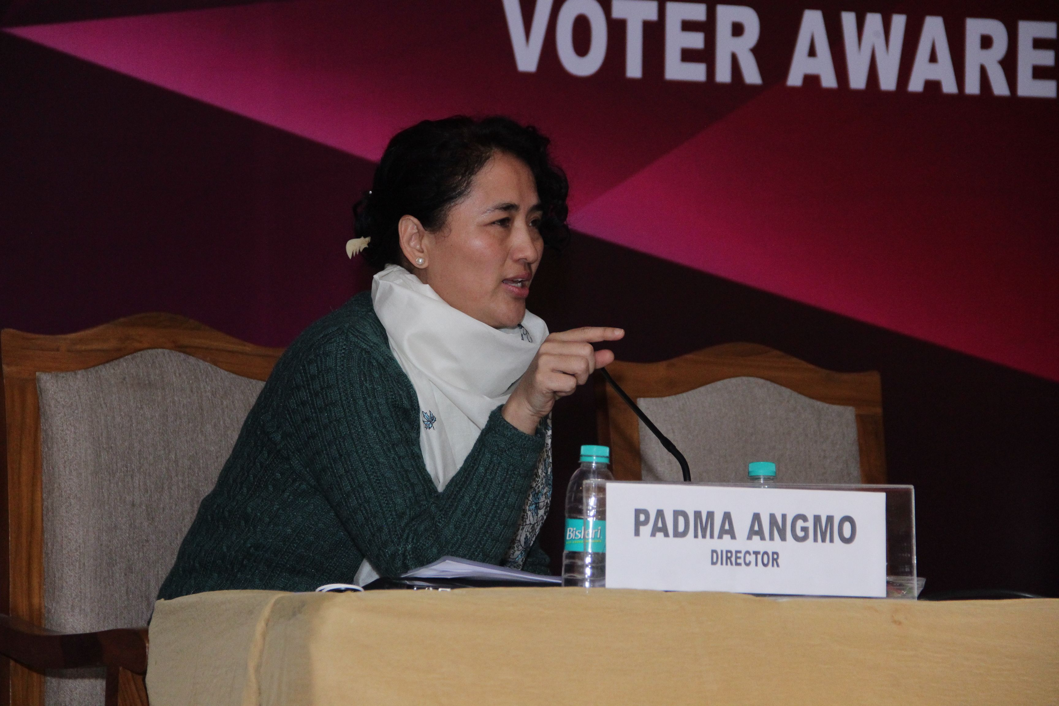 Ms Padma Angmo, Director interacting with the Nodal Officers