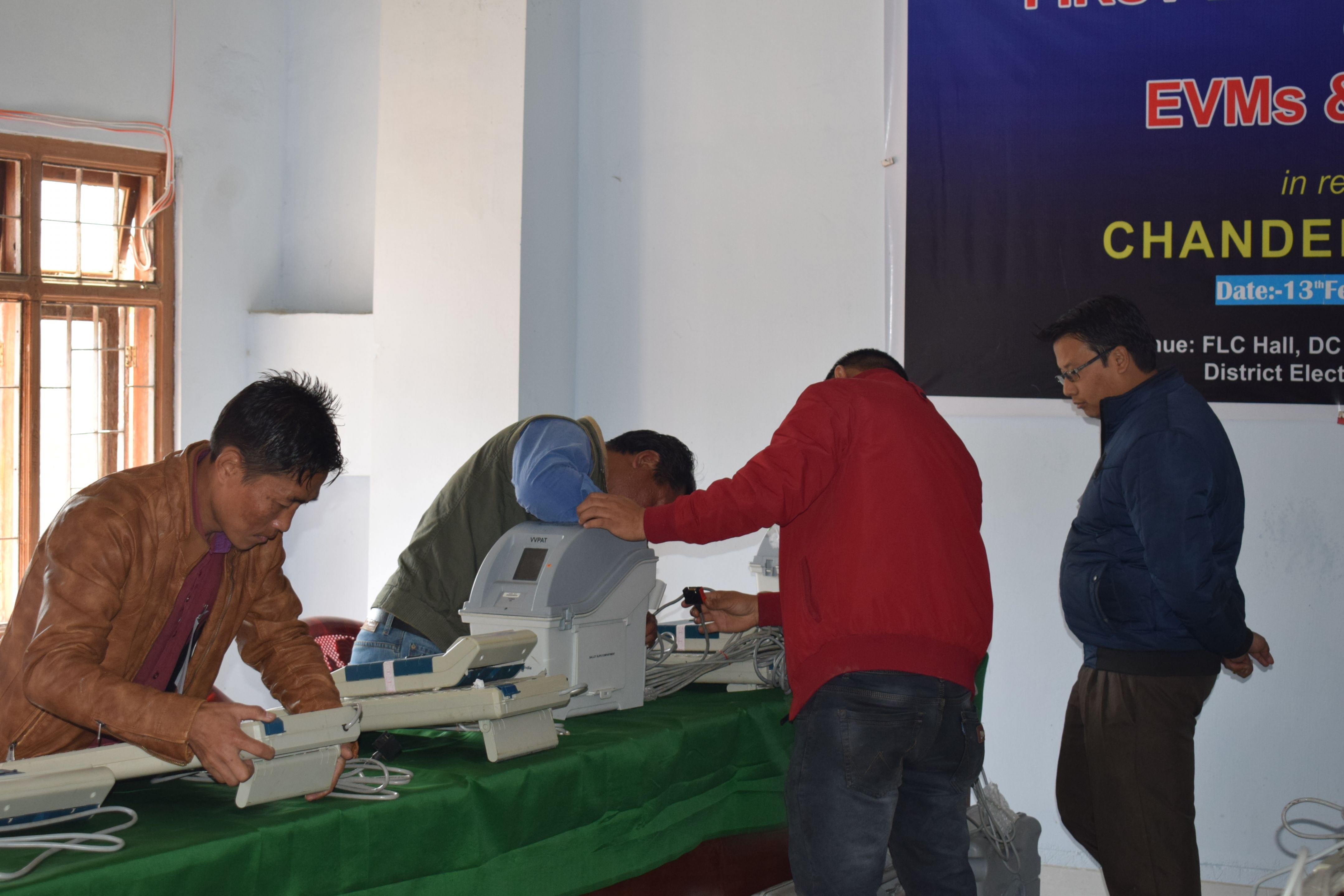 First Level Checking of EVM & VVPATs for Chandel District (2)