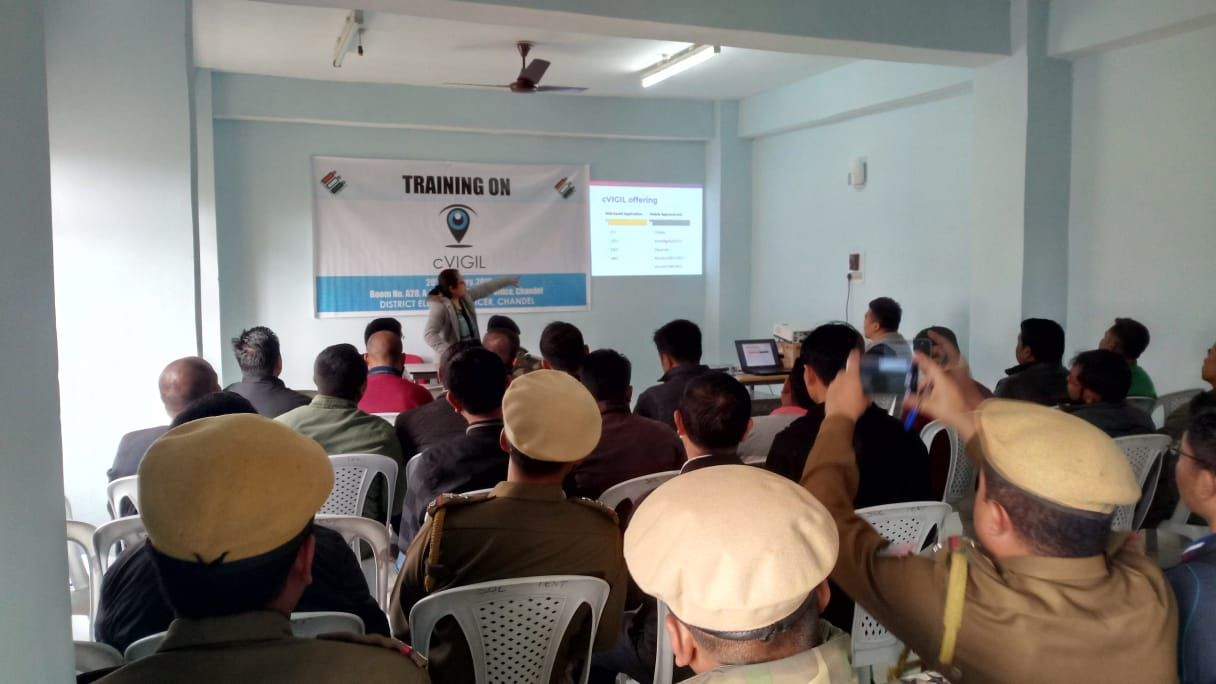 Chandel District cVIGIL awareness and training program