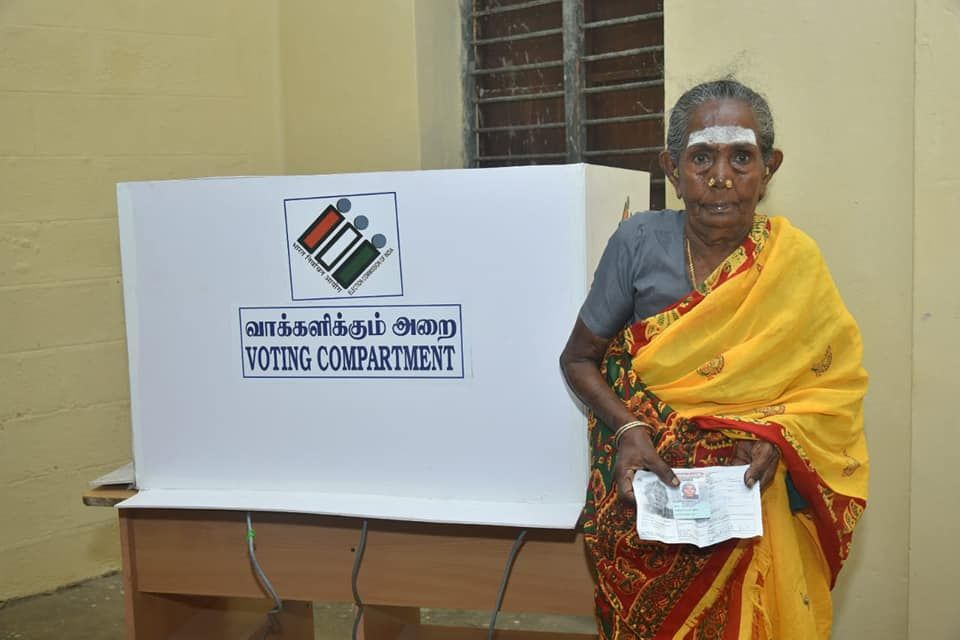 Glimpses of Polling at Puducherry 2.jpg