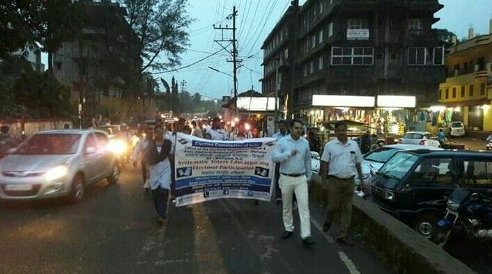 Special Mashal (Torch) Rally on the eve of Gandhi Jayanti was organised by the Office of the AERO of 03-Bicholim