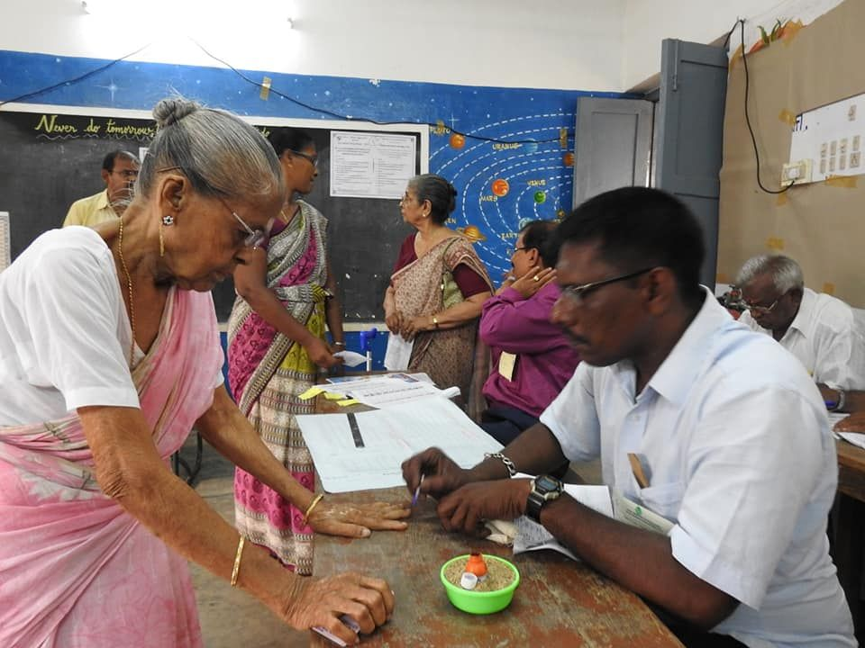 Snapshots of Polling at Thattanchavady Constituency-2, Pondicherry  5.jpg