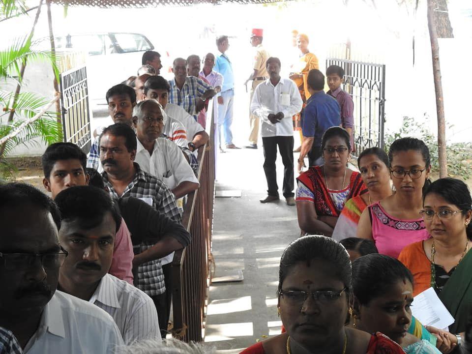 Snapshots of Polling at Thattanchavady Constituency, Pondicherry  1.jpg