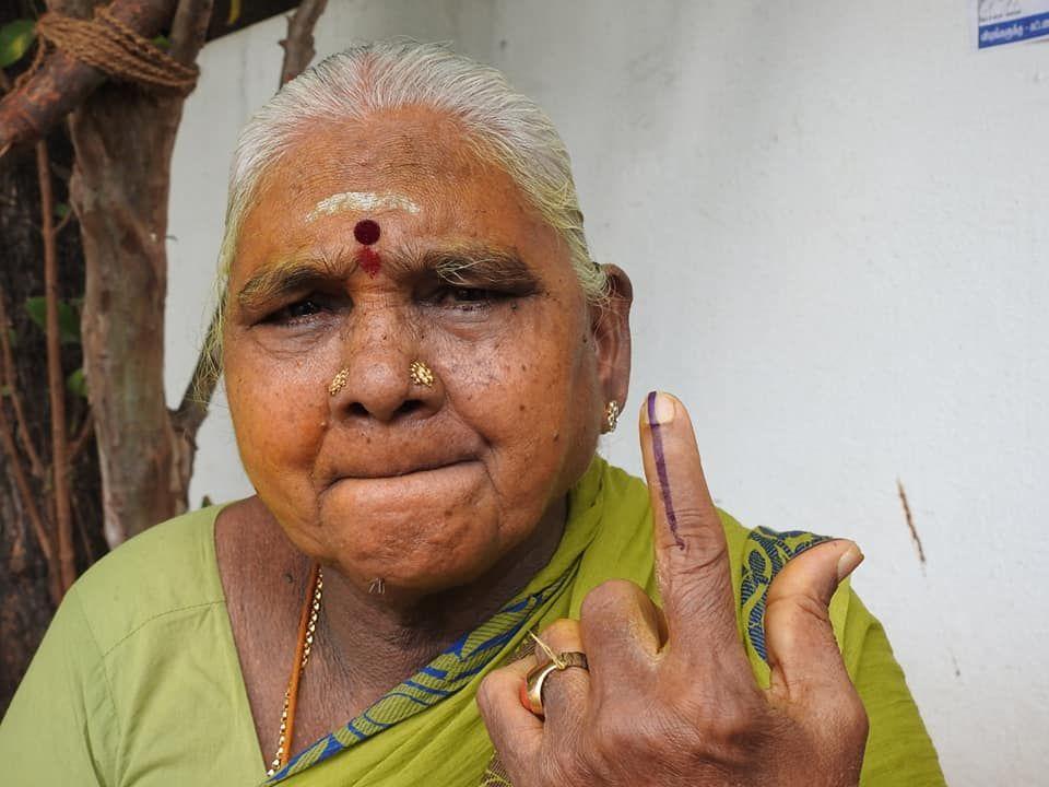 Snapshots of Polling at Thattanchavady Constituency, Pondicherry  2.jpg