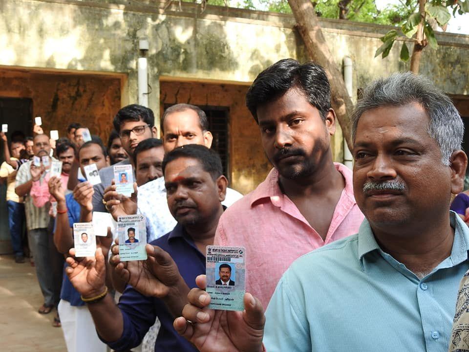 Snapshots of Polling at Thattanchavady Constituency-2, Pondicherry  2.jpg