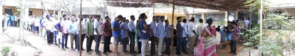Snapshots of Polling at Thattanchavady Constituency-2, Pondicherry  9.jpg
