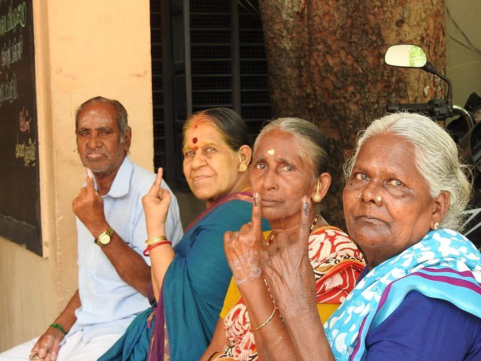 Poll Day Pics Puducherry