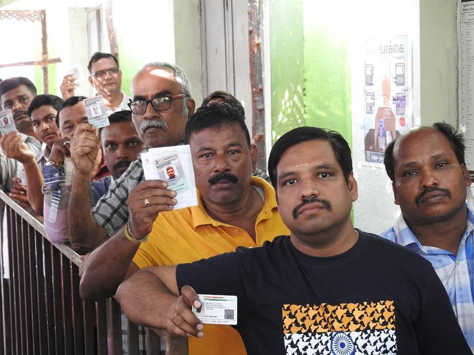 Snapshots of Polling at Thattanchavady Constituency, Pondicherry  6.jpg