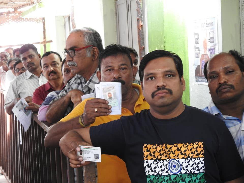 Snapshots of Polling at Thattanchavady Constituency, Pondicherry  4.jpg