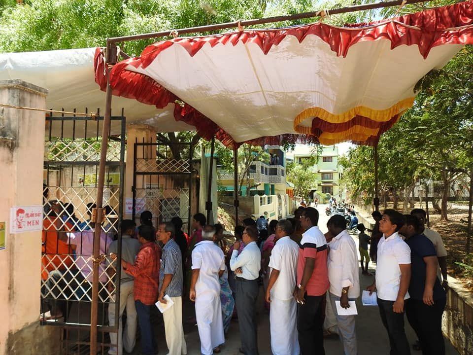 State Nodal Officer - SVEEP Casts his vote at Kamaraj Nagar Constituency 4