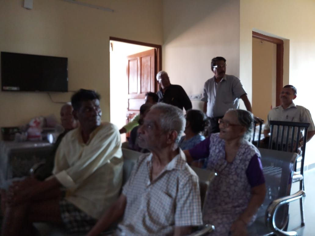 Shri Pravinjay Pandit Mamlatdar of Bicholim Taluka and AERO of 03 Bicholim Assembly constituency conducted an innovative  awareness programme for senior citizens and person with disabilities .