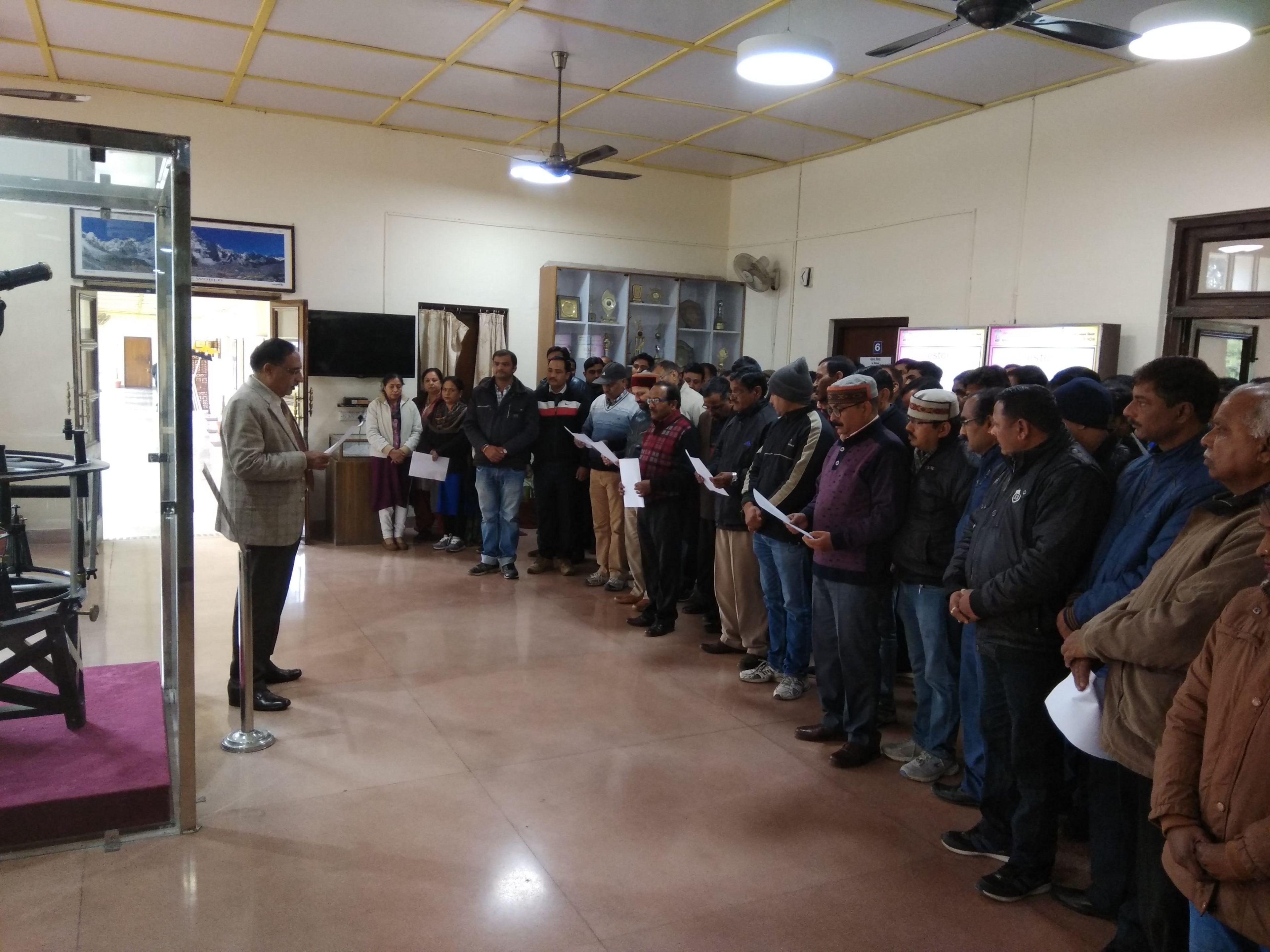 Photos of pledge taking of DST, SoI & NATMO