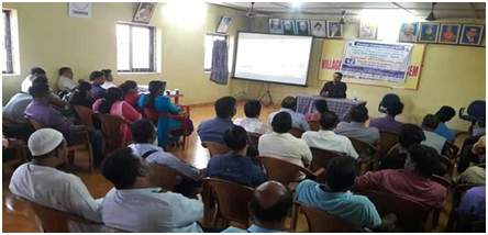 Some glimpses of the special awareness programme in respect of ethical voting and screening of demonstration videos of EVM and VVPAT conducted by Shri Pravinjay Pandit Mamlatdar of Bicholim Taluka