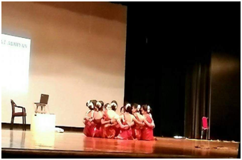 The Fugdi Folk dance on Ethical voting was performed by the team of the AERO of 03-Bicholim and Mamlatdar of Bicholim