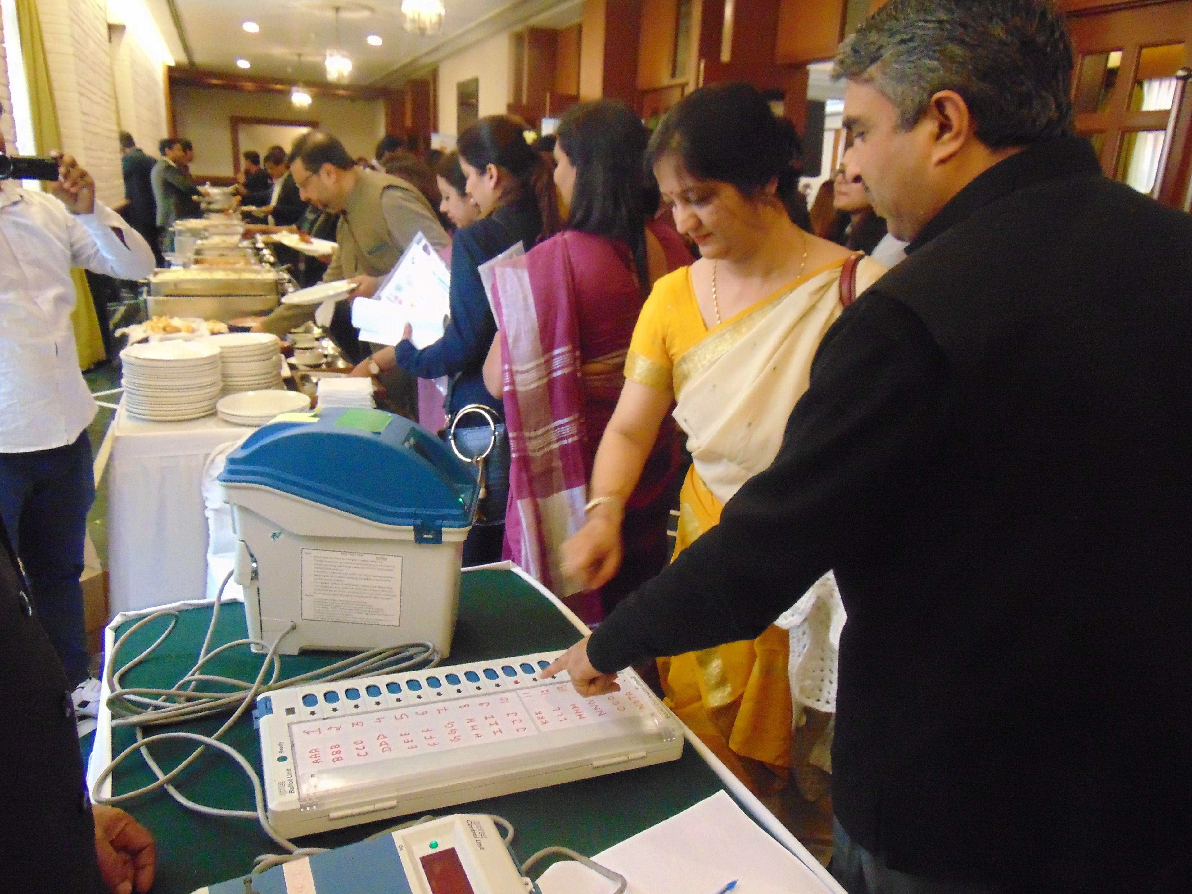 EVM/VVPAT DEMO at India Habitat Centre, Delhi