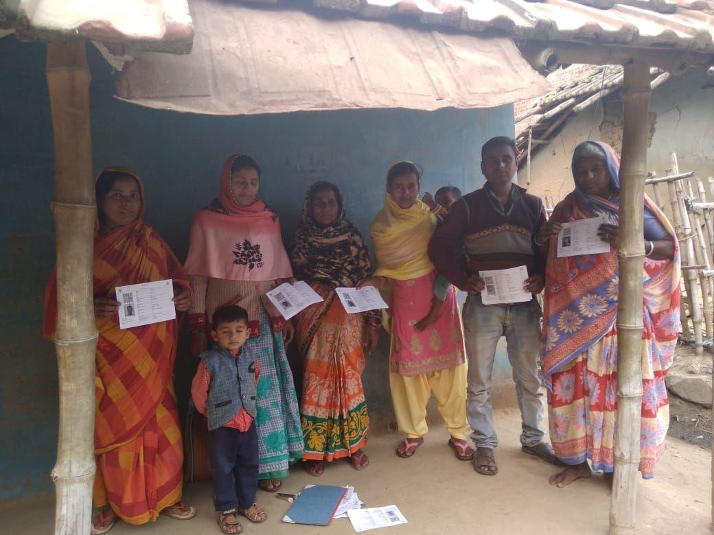 Distribution of voter slip among voters, DEO PAKUR.jpg