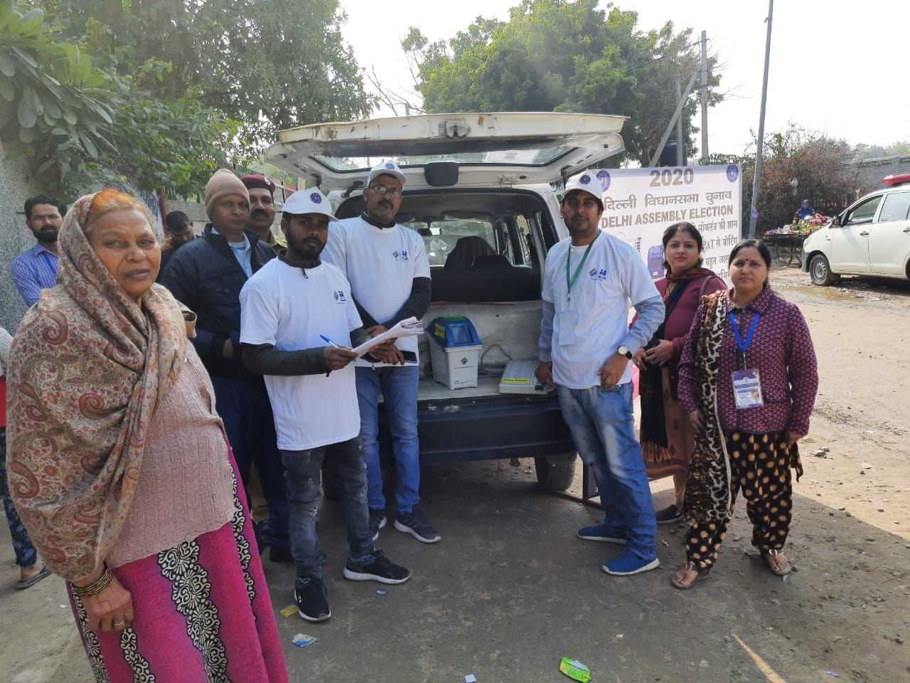 Voter Awareness Campaign in Low Voter Turnout areas in Badarpur Assembly Constituency