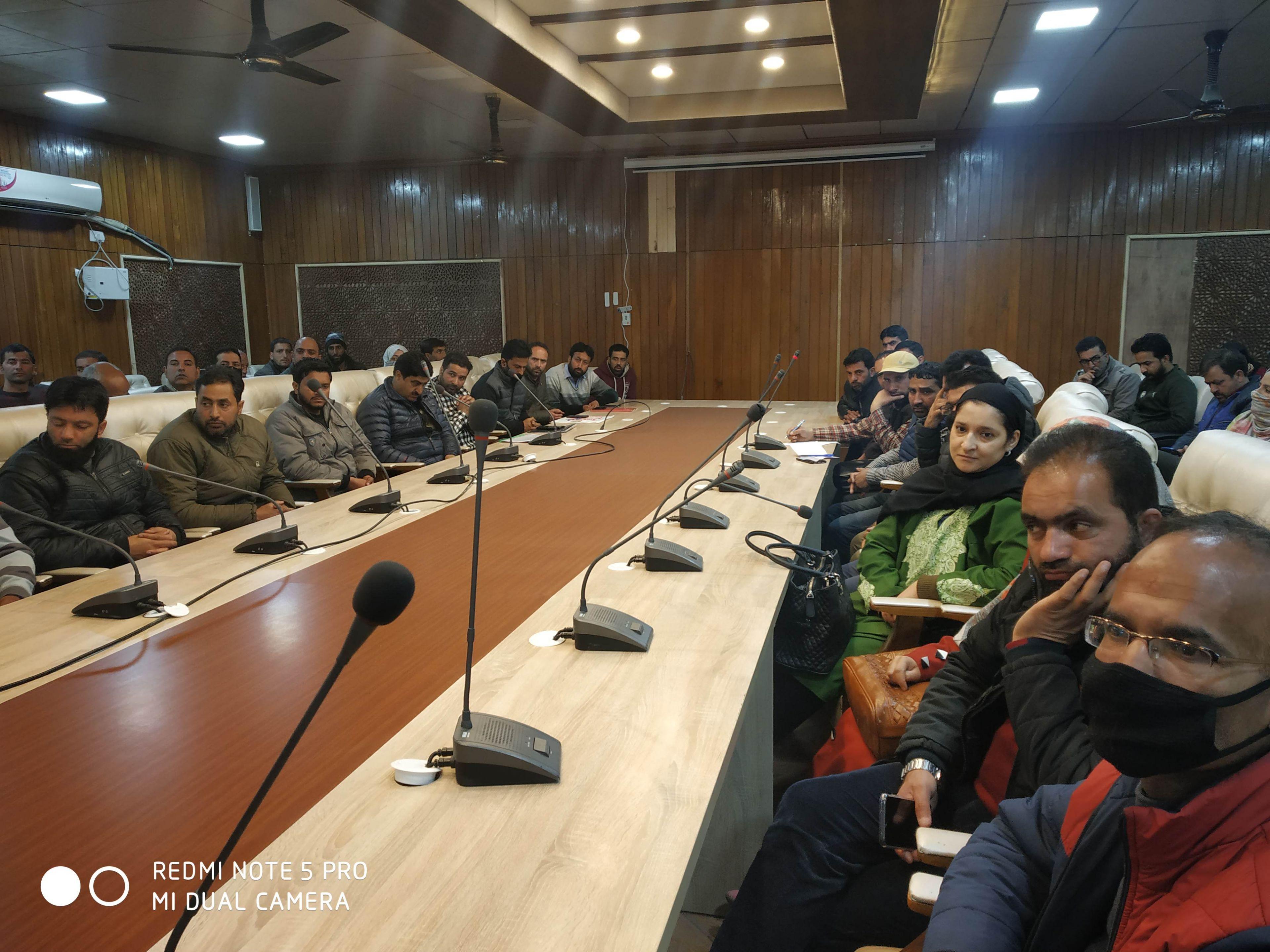 MEETING REGARDING ELECTORAL LITERACY CLUB DISTRICT SRINAGAR