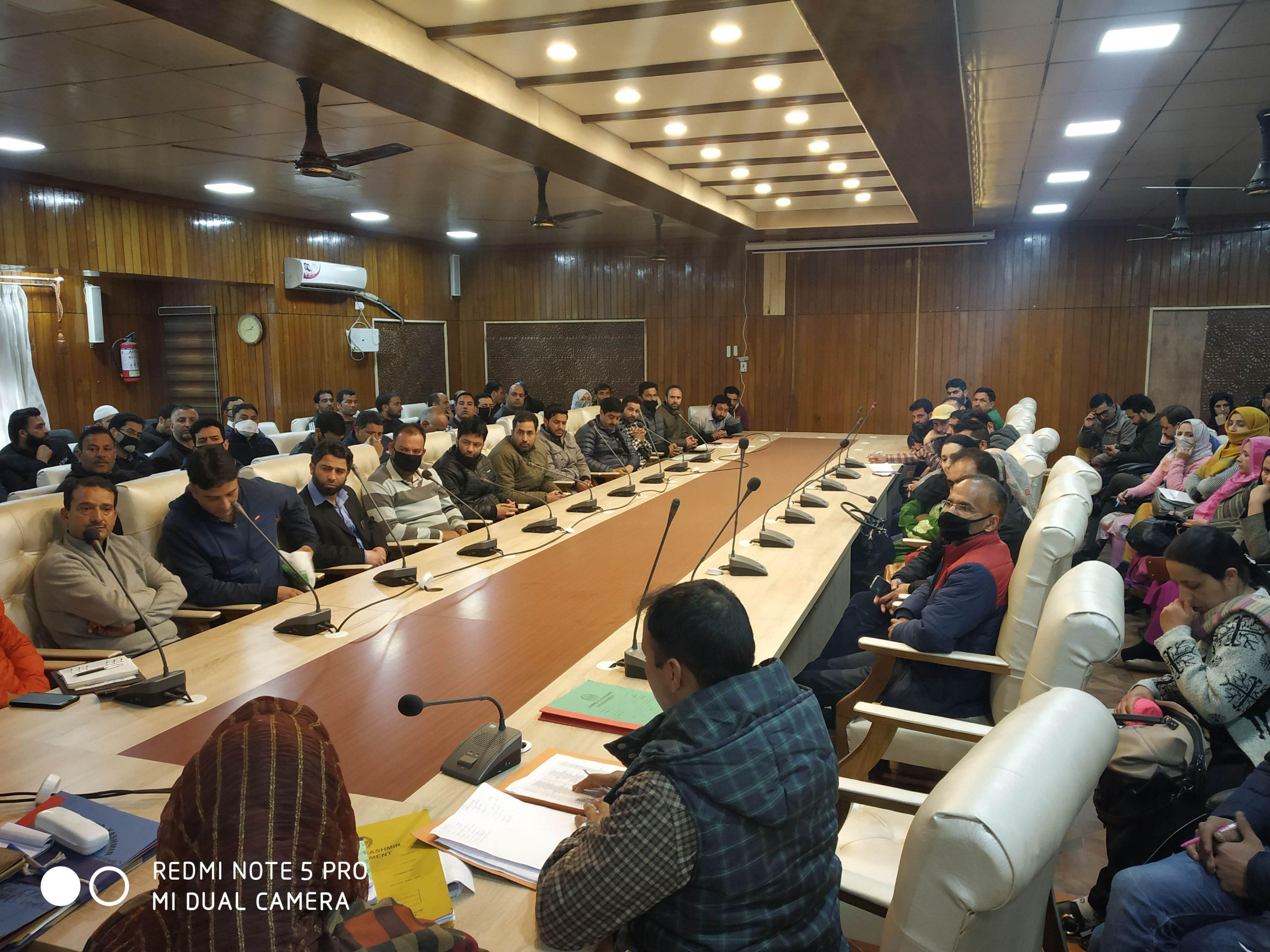 MEETING REGARDING ELECTORAL LITERACY CLUB DISTRICT SRINAGAR 2020