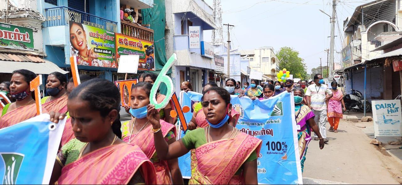 TNLA2021 - 95 Paramathy Velur - Voters Awareness Programme -Kabilarmalai - On 25.03.2021