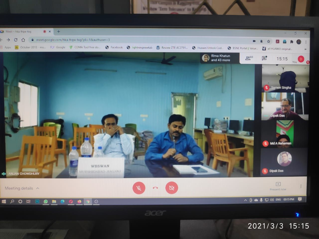 Google meet with SCBC College students