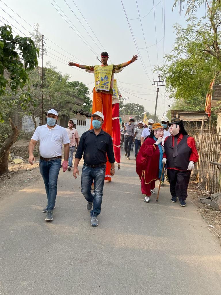 Ranapa artists spreading Voter awareness in Suti 1 block