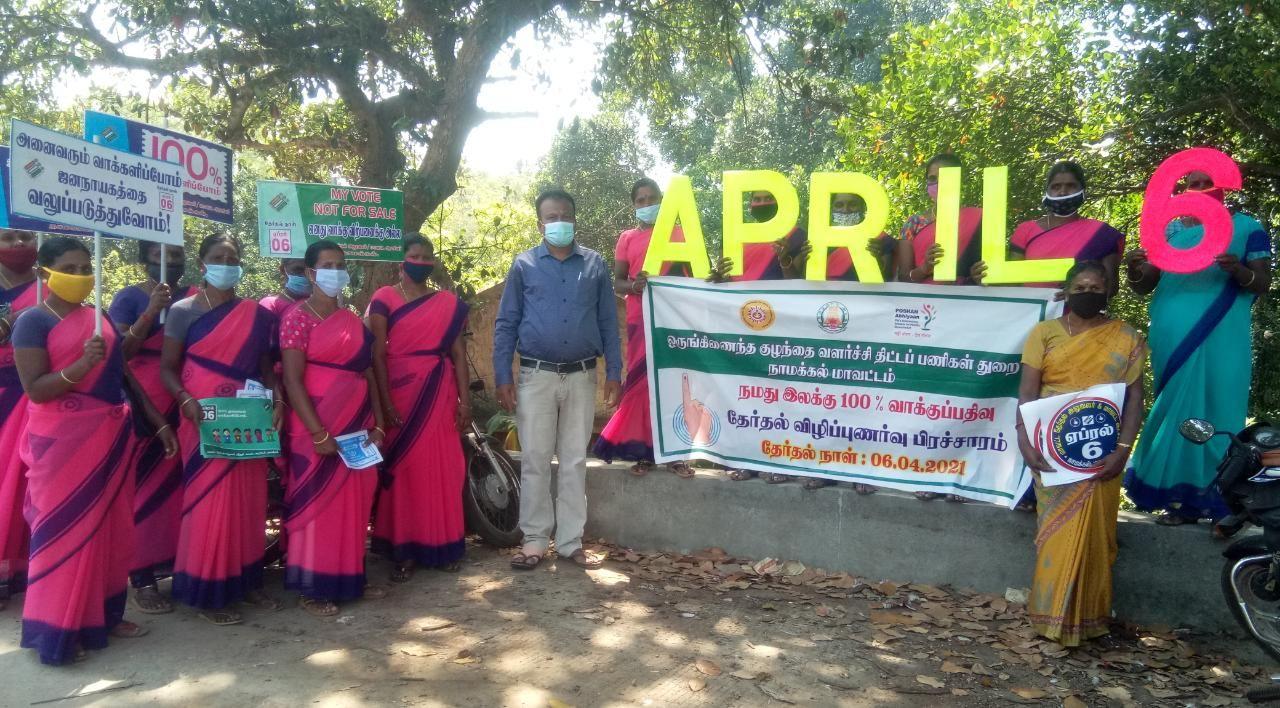TNLA2021 - 94 Namakkal - Issuing of awareness notice in less polling areas - Namakkal Block - On 02.04.2021 (4).jpeg