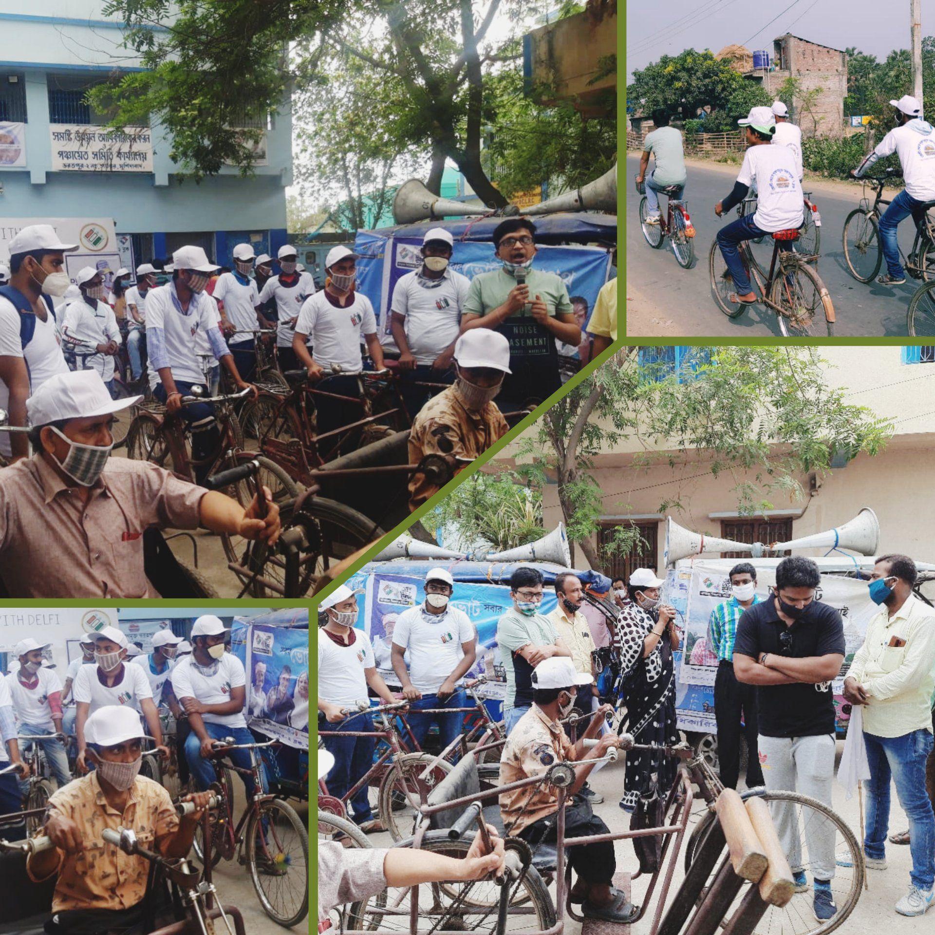 Cycle rally at  Bharatpur 02.04.2021